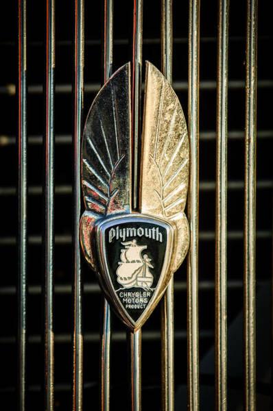 Hoodie Photograph - 1934 Plymouth Emblem by Jill Reger