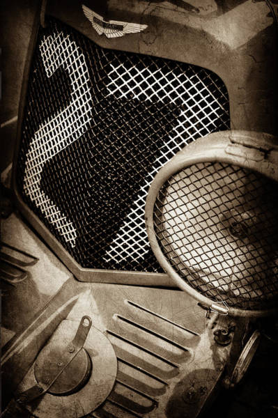 Wall Art - Photograph - 1935 Aston Martin Ulster Race Car Grille -0979s by Jill Reger
