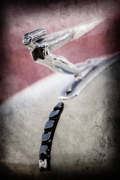 Photograph - 1935 Auburn 851 Supercharged Boattail Speedster Hood Ornament -0852ac by Jill Reger