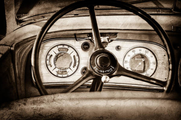 Photograph - 1935 Auburn 851 Supercharged Boattail Speedster Steering Wheel -0862s by Jill Reger