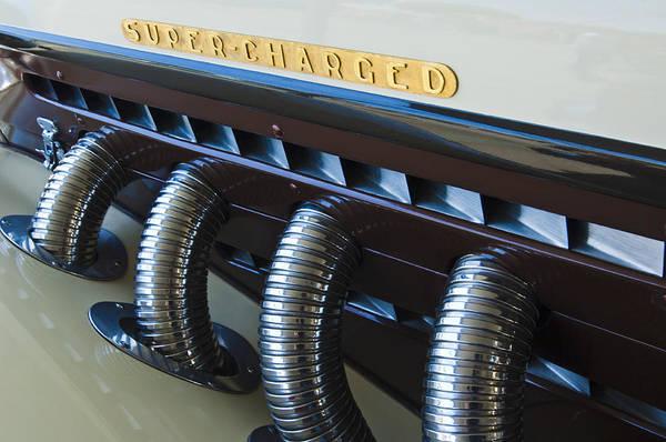 Photograph - 1935 Auburn Boattail Speedster Side Pipes by Jill Reger
