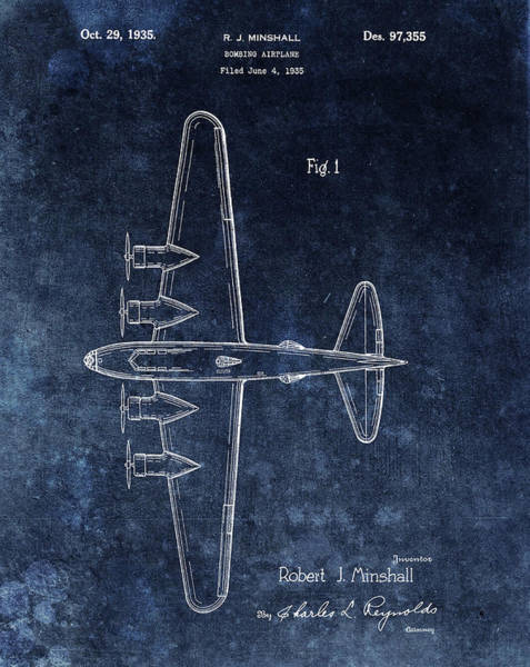 Wall Art - Mixed Media - 1935 Bombing Airplane by Dan Sproul