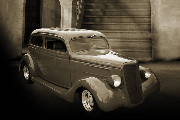 Photograph - 1935 Ford Classic Car Photograph Sepia 7153.01 by M K Miller