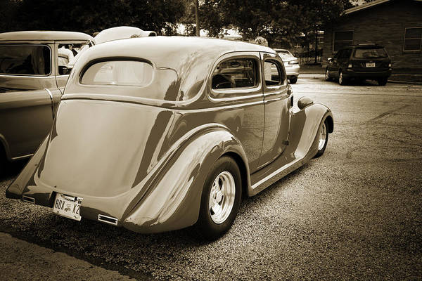 Photograph - 1935 Ford Classic Car Photograph Sepia 7162.01 by M K Miller