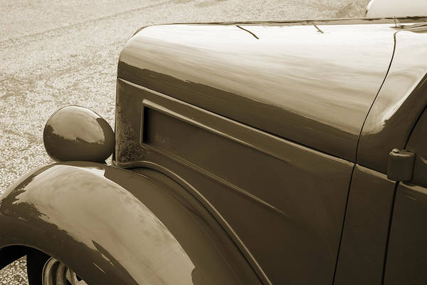 Photograph - 1935 Ford Classic Car Photograph Sepia 7164.01 by M K Miller