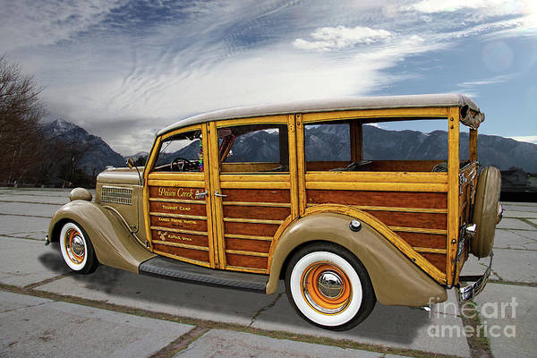 Wall Art - Photograph - 1935 Ford Woody Station Wagon 1 by Nick Gray