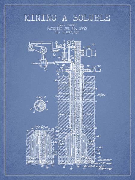 Wall Art - Digital Art - 1935 Mining A Soluble Patent En39_lb by Aged Pixel