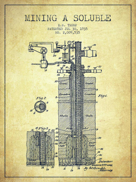 Wall Art - Digital Art - 1935 Mining A Soluble Patent En39_vn by Aged Pixel