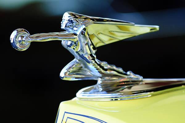 Car Part Photograph - 1935 Packard Hood Ornament by Jill Reger