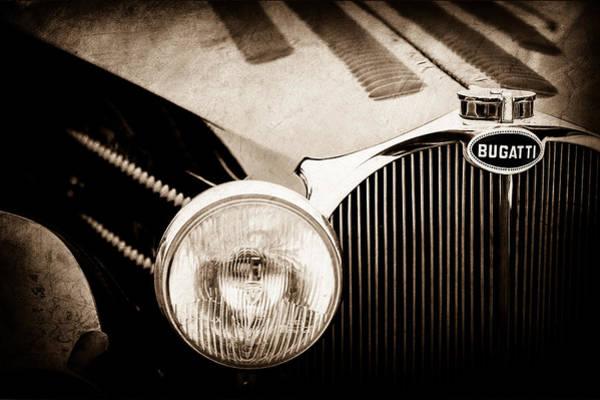 Photograph - 1936 Bugatti Type 57s Corsica Tourer Grille Emblem -1673s by Jill Reger