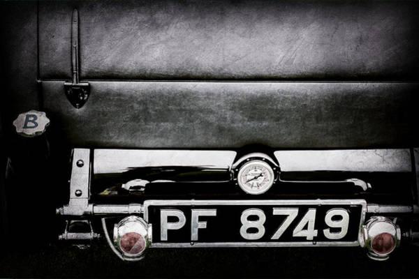 Photograph - 1936 Bugatti Type 57s Corsica Tourer License Plate -0067ac by Jill Reger