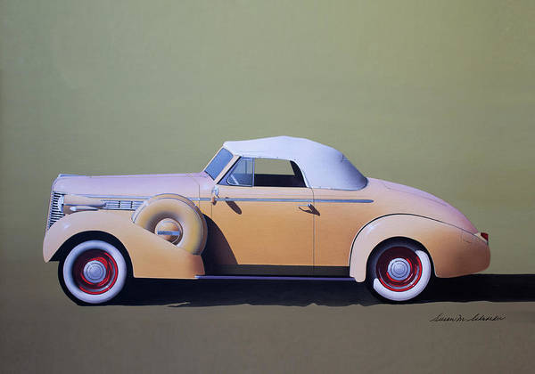 Painting - 1936 Buick Coupe by Susan Schroeder