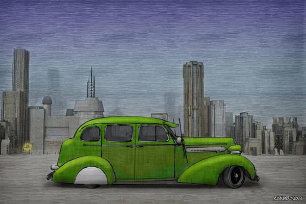 Ken Morris Digital Art - 1936 Buick  by Ken Morris