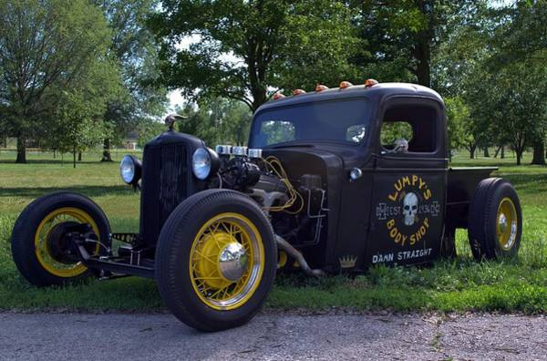 Photograph - 1936 Chevrolet Pickup Rat Rod by Tim McCullough