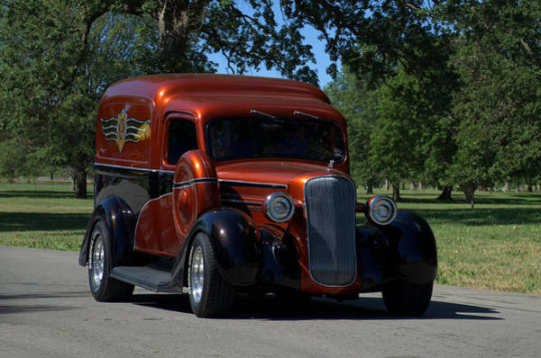 Photograph - 1936 Dodge Humpback Panel Truck by Tim McCullough