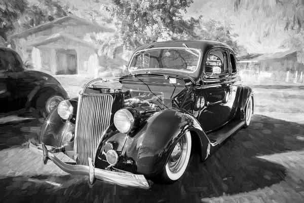 Photograph - 1936 Ford 5 Window Coupe 002 by Rich Franco