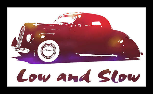 Digital Art - 1936 Ford Custom Low And Slow Red by David King
