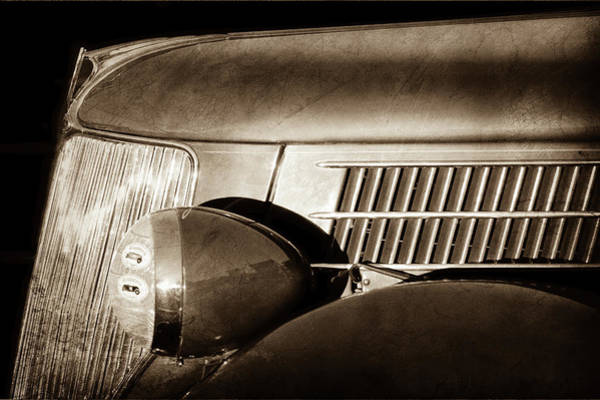 Phaeton Photograph - 1936 Ford Phaeton Grille -0303s by Jill Reger