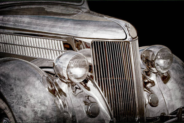 Stainless Steel Wall Art - Photograph - 1936 Ford - Stainless Steel Body -0371ac by Jill Reger