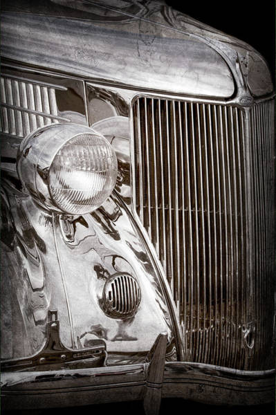 Stainless Steel Wall Art - Photograph - 1936 Ford Stainless Steel Grille -0376ac by Jill Reger