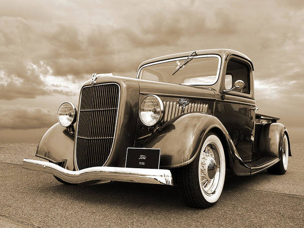 Photograph - 1936 Ford V8 In Sepia by Gill Billington