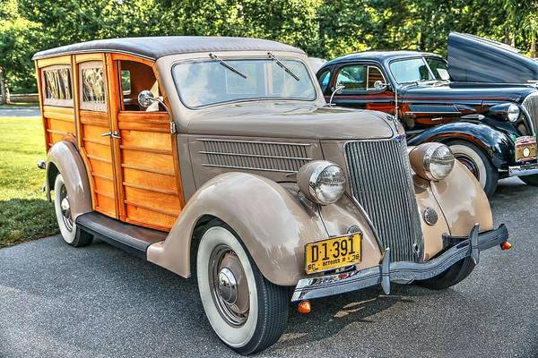 Photograph - 1936 Ford V8 Woody Station Wagon by Carol Montoya