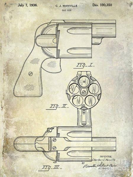 Wesson Photograph - 1936 Gun Patent by Jon Neidert