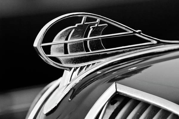 Photograph - 1936 Plymouth Sedan Hood Ornament 2 by Jill Reger