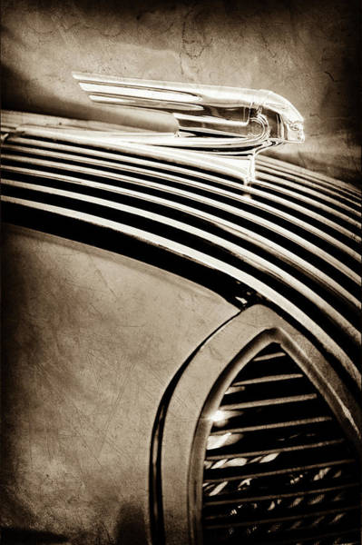 Photograph - 1936 Pontiac Hood Ornament -1140s by Jill Reger