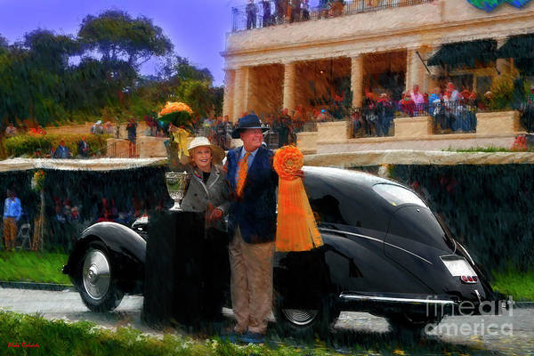 Photograph - 1937 Alfa Romeo 8c 2900b Touring Berlinetta And Mr And Mrs Sydorick Pebble Beach Concours D Elegance by Blake Richards