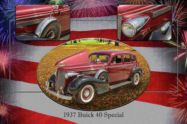 Photograph - 1937 Buick 40 Special 5541.27 by M K Miller