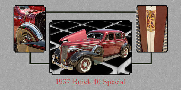 Photograph - 1937 Buick 40 Special 5541.28 by M K Miller