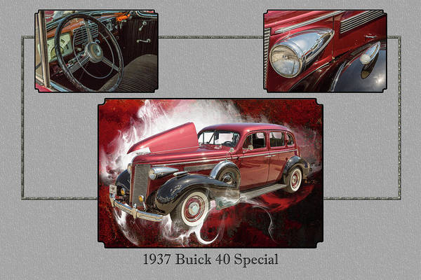 Photograph - 1937 Buick 40 Special 5541.29 by M K Miller
