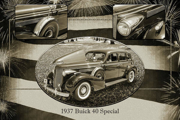 Photograph - 1937 Buick 40 Special 5541.75 by M K Miller
