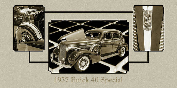 Photograph - 1937 Buick 40 Special 5541.76 by M K Miller