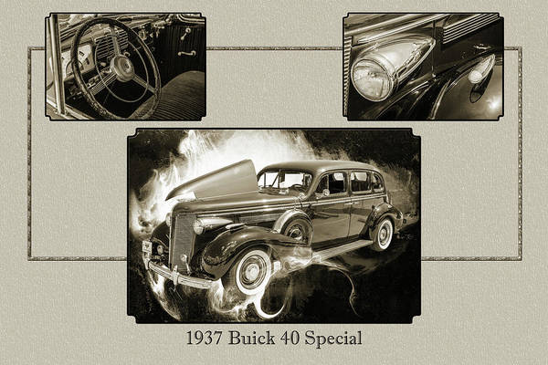 Photograph - 1937 Buick 40 Special 5541.77 by M K Miller