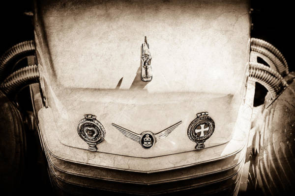 Photograph - 1937 Cord 812 Phaeton Grille Emblems -0009s by Jill Reger