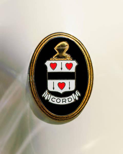 Photograph - 1937 Cord 812 Sc Phaeton Emblem -1203c3 by Jill Reger