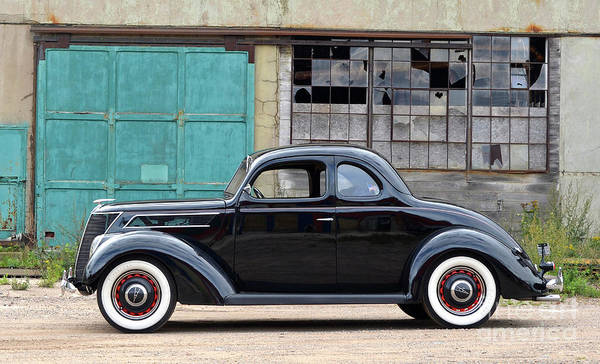 Wall Art - Photograph - 1937 Ford Coupe, Woodie Plant, Kingsford, Mi by Ron Long