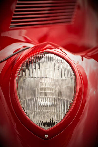 Photograph - 1937 Ford Headlight Detail by  Onyonet  Photo Studios