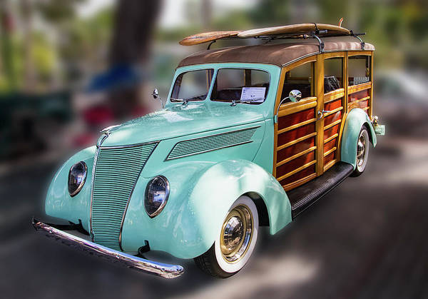 Photograph - 1937 Green Woody Automobile by Bob Slitzan