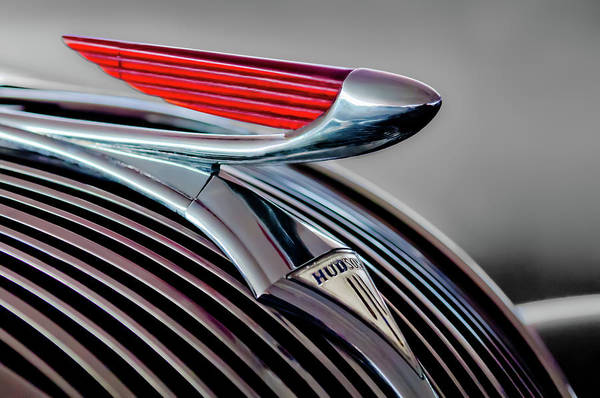 Wall Art - Photograph - 1937 Hudson Terraplane Hood Ornament -0686g by Jill Reger