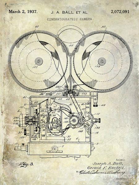 1937 Photograph - 1937 Motion Picture Camera Patent by Jon Neidert