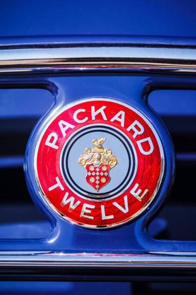 Photograph - 1937 Packard 12 Coupe Roadster Emblem by Jill Reger