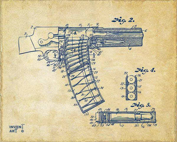 Schematic Wall Art - Digital Art - 1937 Police Remington Model 8 Magazine Patent Minimal - Vintage by Nikki Marie Smith