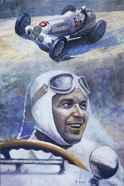 Wall Art - Painting - 1937 Rudolf Caracciola Mb W125 by Yuriy Shevchuk