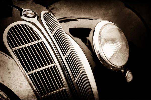 Photograph - 1938 Bmw 327-8 Cabriolet Grille Emblem -1526s by Jill Reger