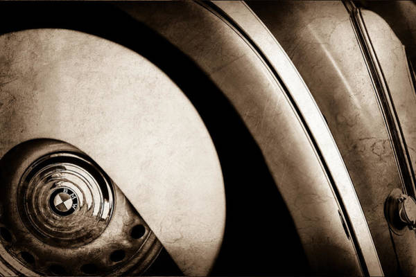 Photograph - 1938 Bmw 327 - 8 Cabriolet Rear Wheel Emblem -2668s by Jill Reger