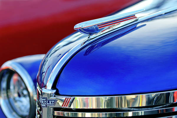 Photograph - 1938 Chevrolet Hood Ornament 2 by Jill Reger