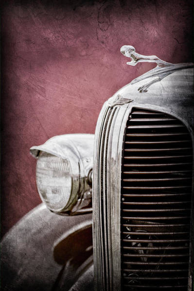 Wall Art - Photograph - 1938 Dodge Ram Grille - Hood Ornament -0294ac by Jill Reger